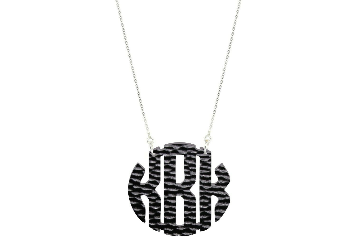 Clean Block Monogram with Duo Necklace