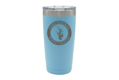 Body of Water w/Circle & Customized Location Insulated Tumbler 20 oz