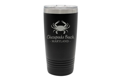 Crab & Customized Location Insulated Tumbler 20 oz
