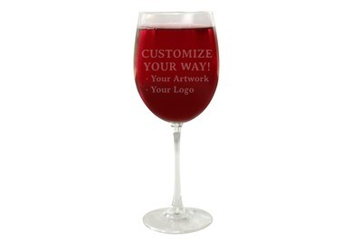 Customize Your Way Wine Glass 19 oz