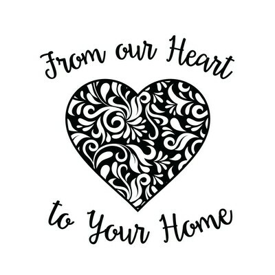 From Our Heart to Your Home Stemless Wine Glass