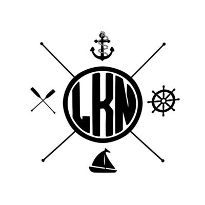 Custom Location with Nautical Themes Wine Glass 19 oz