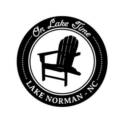 On Lake Time w/Chair & Customized Location Slate Serving Tray