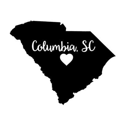 Custom State Shape - Heart Represents City Location Slate Serving Tray