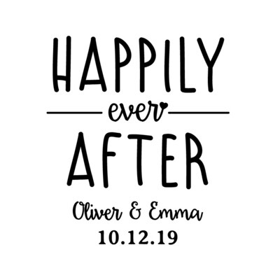 Custom Happily Ever After Leatherette Coaster Set