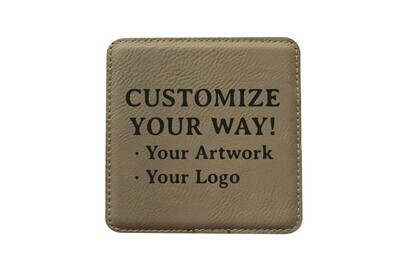 Customize Your Way Leatherette Coaster Set