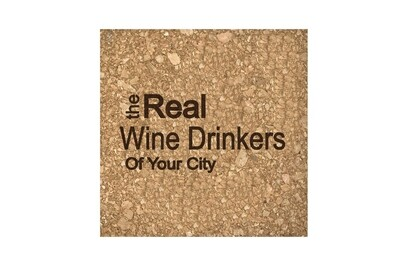 The Real Wine Drinkers of (Add Your Custom Location) Cork Coaster Set