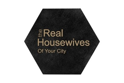 The Real Housewives of (Add Your Custom Location) HEX Hand-Painted Wood Coaster Set