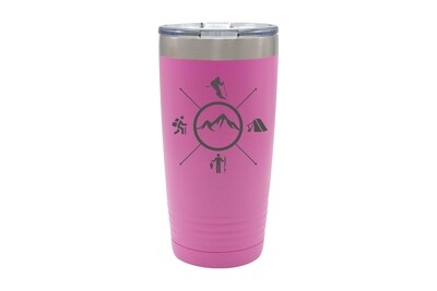 Skier with Outdoor Themes Insulated Tumbler 20 oz