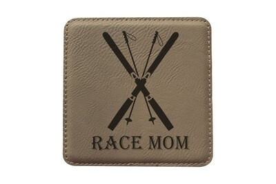 Race Mom Leatherette Coaster Set
