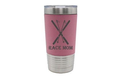 Leatherette 20 oz Race Mom Insulated Tumbler