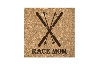 Race Mom Cork Coaster Set