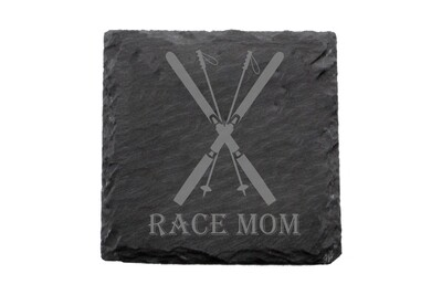 Race Mom Slate Coaster Set