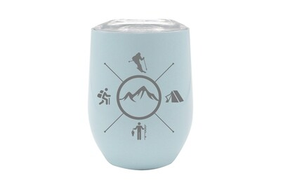 Skier with Outdoor Themes Insulated Tumbler