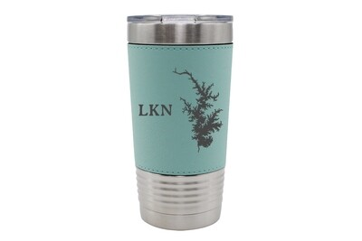 Leatherette 20 oz Body of Water w/Location Name Personalized Insulated Wine Tumbler