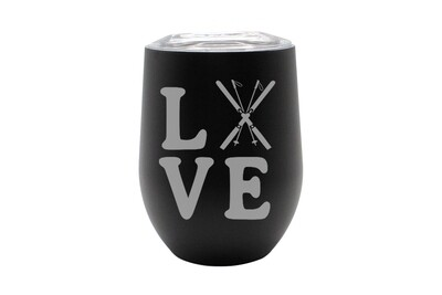 Love with Skis Insulated Tumbler