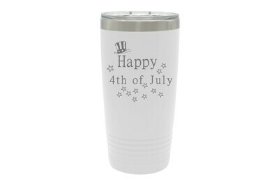 Happy 4th of July Insulated Tumbler 20 oz