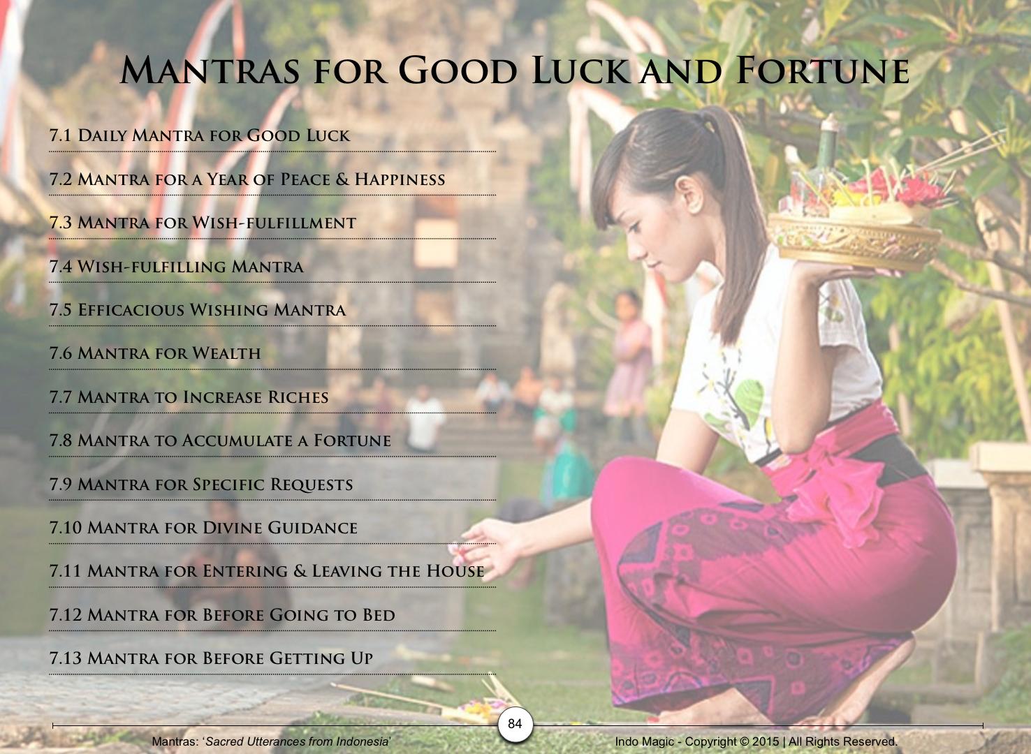 Indonesian Mantras eBook