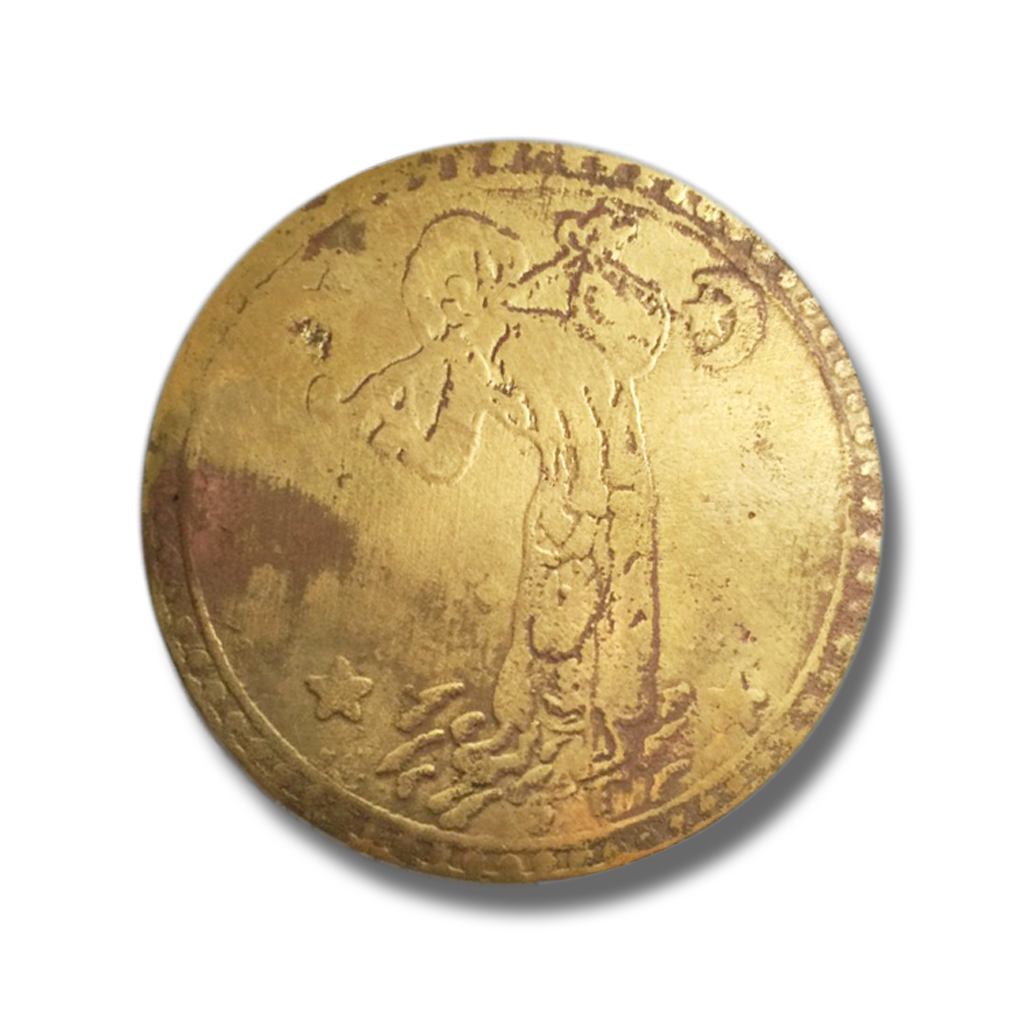 Sacred Brass Coin Amulet of Noah