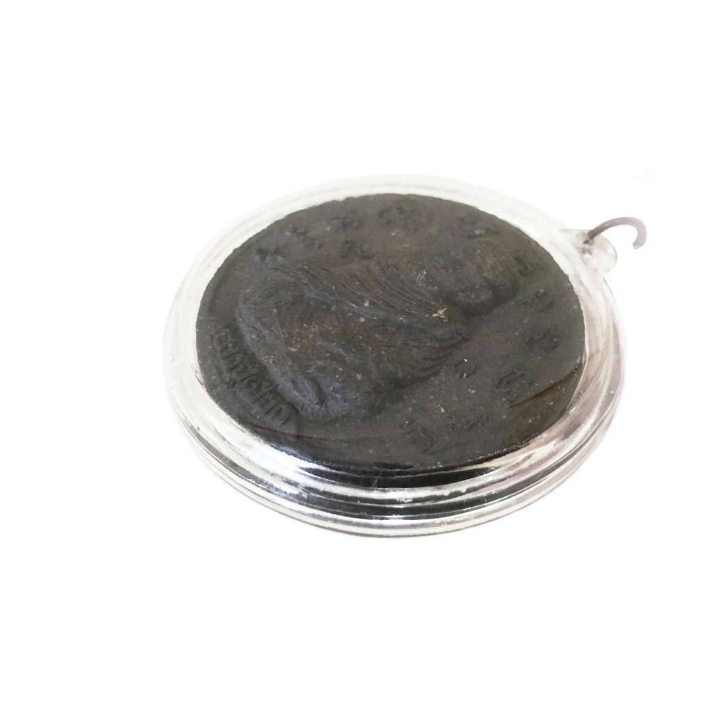 Luang Por Thuad Bullet-stopper Amulet featuring Magical Khom Spells to Keep  One Free from All Harm