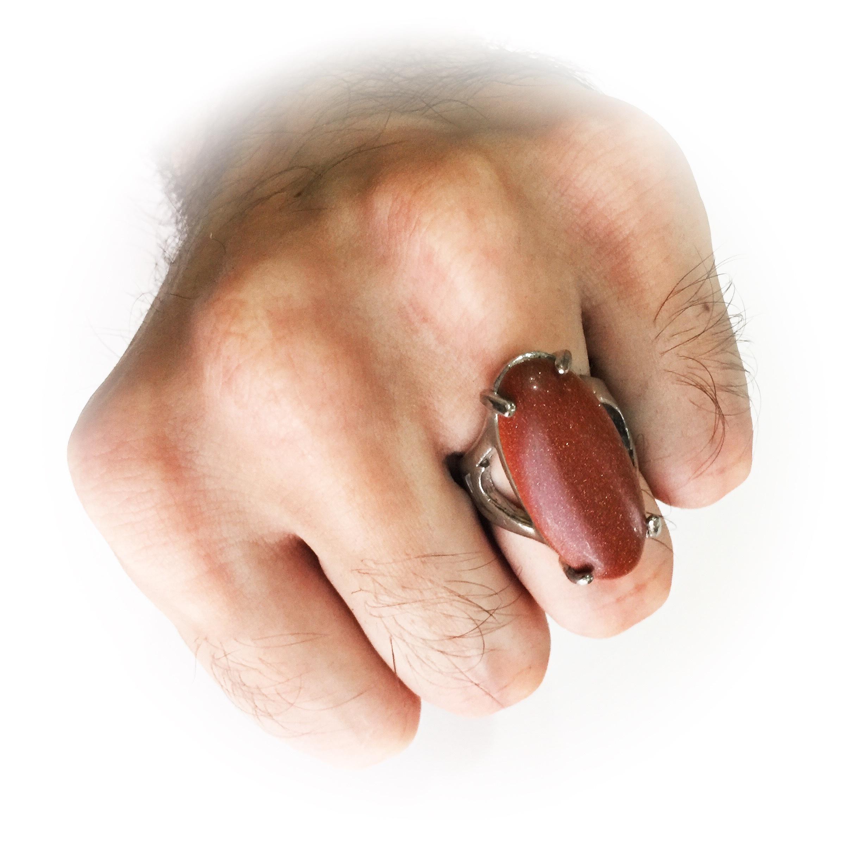 Mystical Jasper Stone Ring Amulet