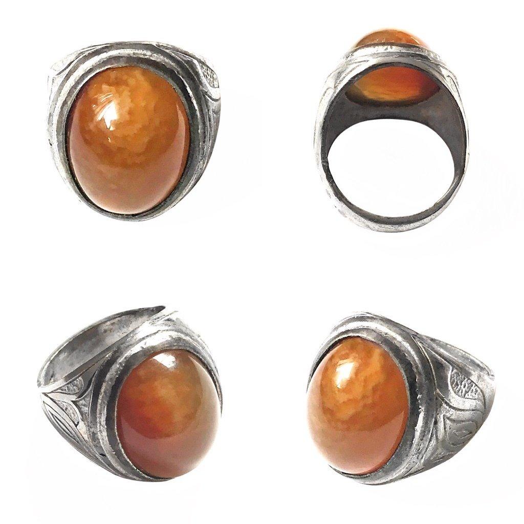Mystical Pale Orange Carnelian Jewel Ring giving Renewed Vitality and Energy