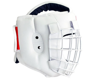 Шлем для рукопашного боя со съемной маской Атлант-1 (натуральная кожа)