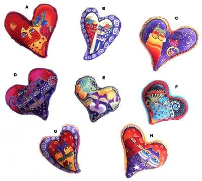 Laurel Burch Heart Catnip Toys