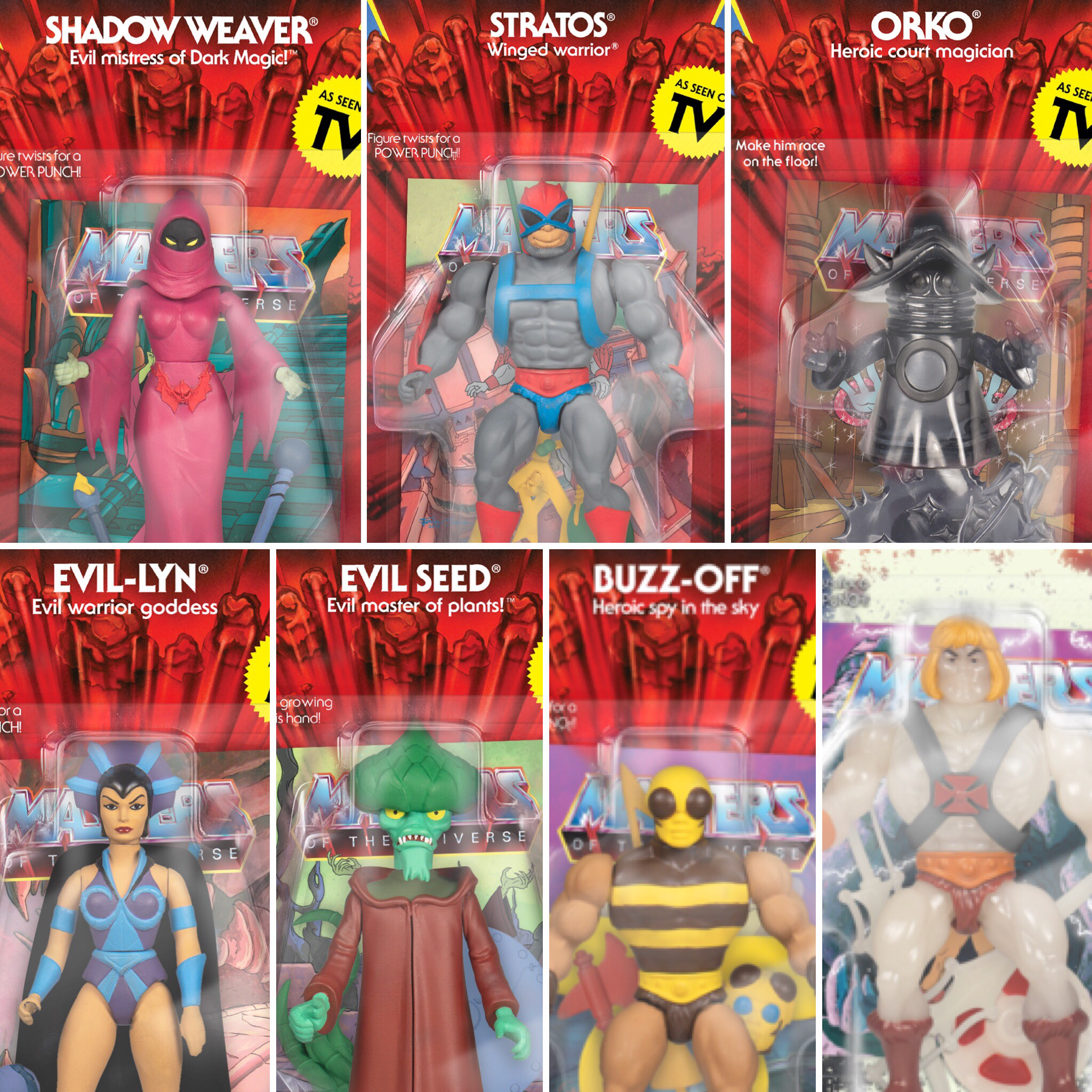 Super7 Masters of the Universe Vintage Collection Wave 4 Evil Seed Action Figu