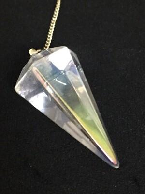 Aura Quartz Pendulum