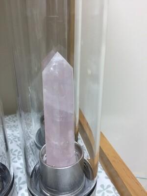 Crystal Water Bottle  Rose Quartz INSERT ONLY