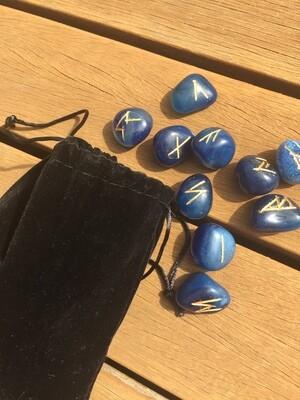 Blue Agate Runes
