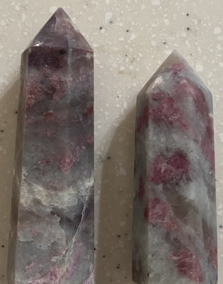 Lepidolite and Pink Tourmaline