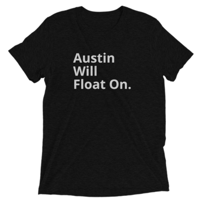 Austin Will Float On Black Tee