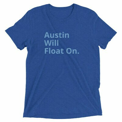 Austin Will Float On Blue Tee