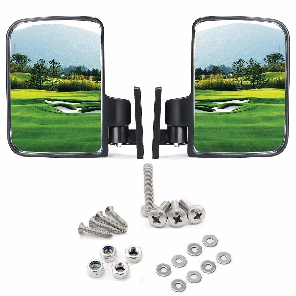 Appalachian Outfitters Ga Golf cart Side Mirrors for Club Car EZ-GO Yamaha and Others