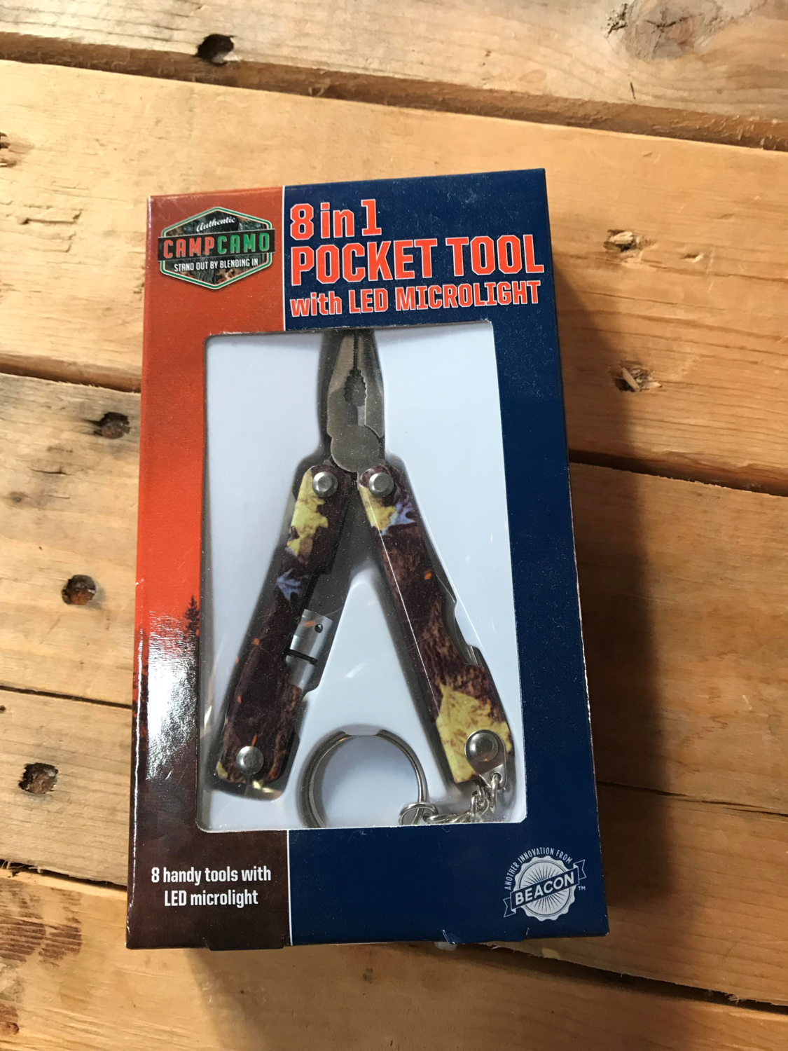 8-in1 Pocket Tool With LED Microlight