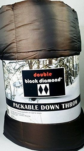 Double Black Diamond Packable Down Throw Storm