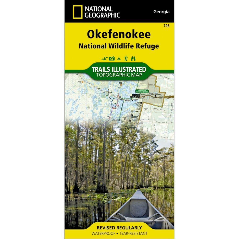 National Geographic Okefenokee National Wildlife Refuge Trail Map