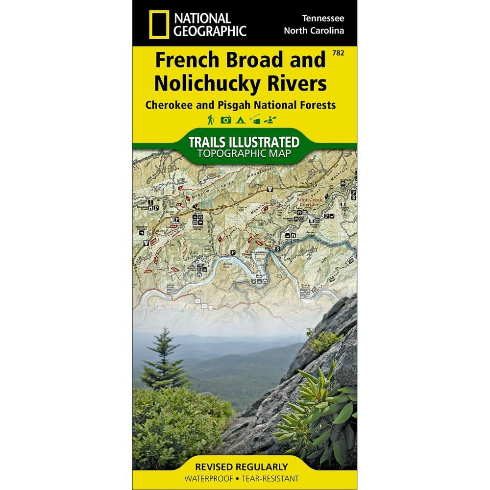 National Geographic # 782 French Broad and Nolichucky Rivers (Cherokee and Pisgah National Forests) Trail Map