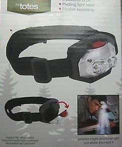 Totes LED Headlamp - Blue Pivoting 3 LED Lamp - Batteries Included - New