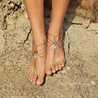 Silver Anklet Toe Ring Multilayer Tassel Barefoot Sandals