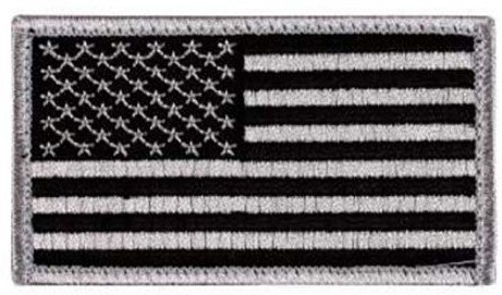 Appoutga's American Flag Patch (Silver And Black Flag)
