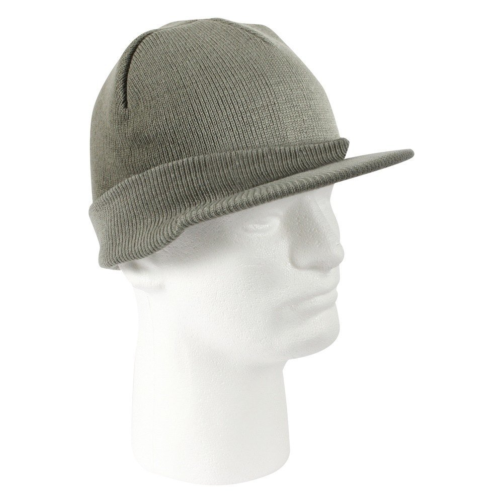 Rothco Beanie Cap With Bill Charcoal