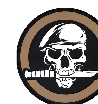 Rothco Military Skull Knife Morale Patch In Vinyl