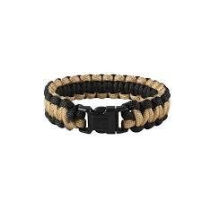 Rothco Two Toned Paracord Bracelet Black/Coyote