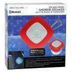SoundLogic XT Splash Proof Speaker with Fm Radio & Carabiner  Red