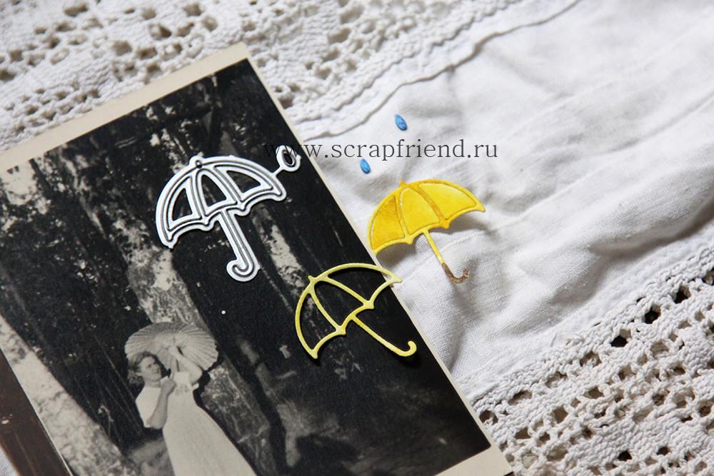 Dies Umbrella and raindrop, 2,6х3 cm, Scrapfriend