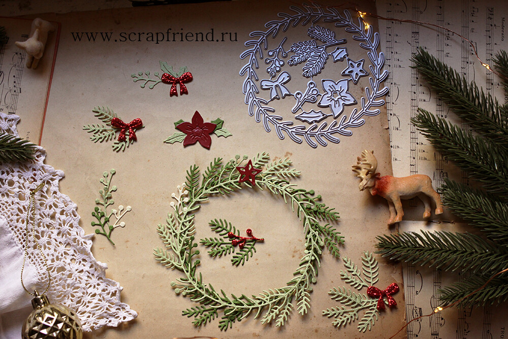 Dies Christmas wreath, Scrapfriend