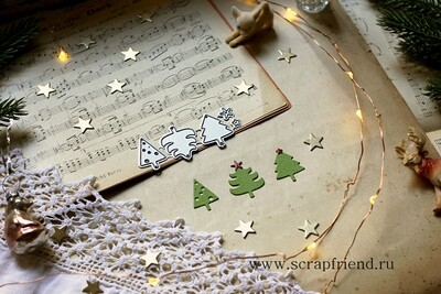 Dies Little Christmas trees, Scrapfriend